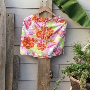 🌴 Banana Republic Floral Skirt Front Draw String